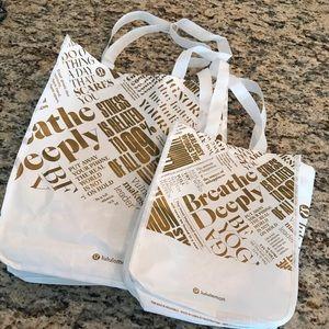 Lululemon bag set, large and small bag